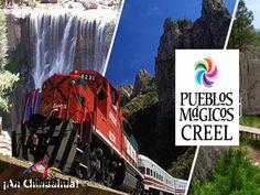 El pueblo mágico de Creel. TURISMO EN BARRANCAS DEL COBRE. En el corazón de la Sierra Tarahumara, Creel es la puerta de entrada a un sinfín de bellezas naturales, entre bosques, peñas, cuevas, las espectaculares Barrancas del Cobre, los lagos, cascadas y ríos, además de sus misiones y las tradiciones de la cultura Rarámuri. Además, es el paso del tren Chihuahua al Pacífico (Chepe). #turismoenchihuahua