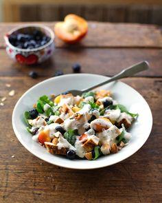 Chicken Nectarine Blueberry Poppyseed Salad