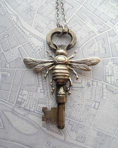 ≗ The Bee's Reverie ≗  bee key pendant