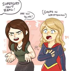 Supercorp isnt real .Supergirl by sexyfairy.deviantart.com on @DeviantArt