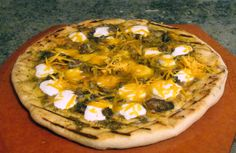 Grilled smoked oyster pizza