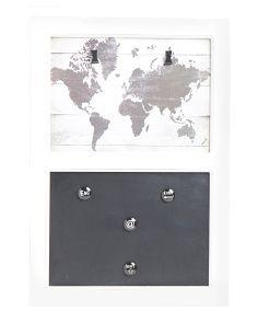 World Map Magnet Chalk Board