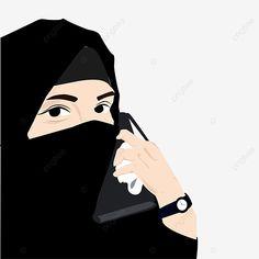 Girl Cartoon, Cute Cartoon, Muslim Nikah, Black And White Cartoon, Girl Background, Muslim Girls, How To Wear Scarves, Abaya Fashion, Portrait Illustration