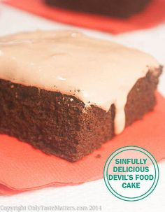 Sinfully Delicious Devil's Food Cake. Light and airy but oh the # ...