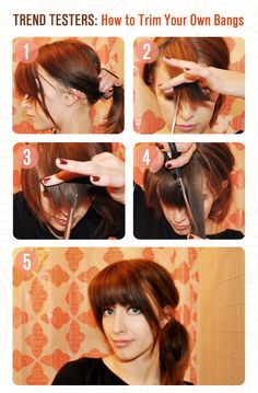 How to cut trim your own bangs bangs hair style and hair cuts trend testers learn how to trim your own bangs with this lovelyskin diy hair tutorial urmus Image collections