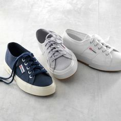 Superga's I bout these in gray and they're the most comfortable sneaker I've ever put on my foot! :))