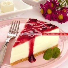Receita de Cheesecake com frutas vermelhas