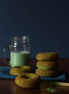 Baked Matcha Donuts Recipe Recipe - great energy boosting doughnuts | Recipes From A Pantry