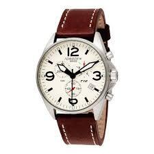 mens chronograph chronograph leather band - Google Search