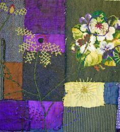 Thread and Thrift: new textile collage -- Mandy Pattullo