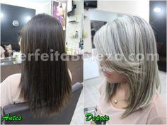 como fazer descoloração em cabelos pretos para loiro platinado