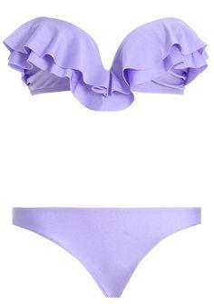 purple ruffles bikini