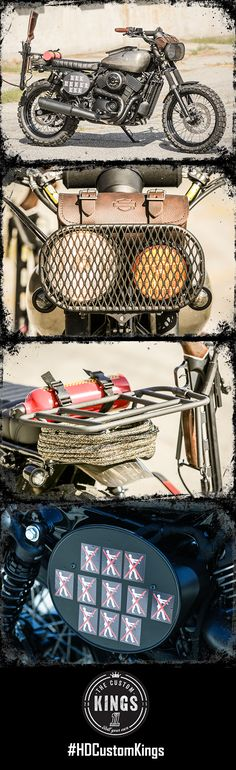 """Los Angeles Harley-Davidson of Anaheim's #HDStreet scrambler """"The Crossbow"""" was built to handle any post-apocalyptic situation in style. #RollYourOwn 