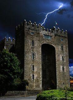 Lightning Bolt, Bunratty Castle, Ireland. via Tumblr.