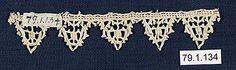 16th-17th century Italian bobbin lace.