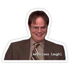 Dwight & His Villainous Plot by TellAVision from Redbubble. Saved to Stuff I Made (Redbubble). Snapchat Stickers, Meme Stickers, Phone Stickers, Printable Stickers, The Office Stickers, Office Jokes, The Office Show, Words Wallpaper, Best Friends Funny