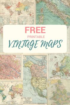 A collection of copyright free printable vintage maps to download. Vintage maps are a cool way to transform a mundane piece of furniture. Or they can be used to make decorations and personalized gifts. #map, #maps, #vintagemaps #freemaps, #printablemaps.