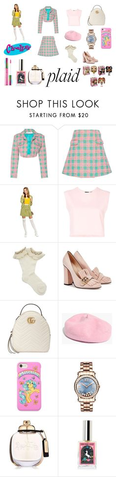 """""""Rechanelling CHER (Clueless)"""" by ristylian ❤ liked on Polyvore featuring Emilio De La Morena, Puma, Gucci, Madewell, Moschino, Chopard, Coach and plaid"""