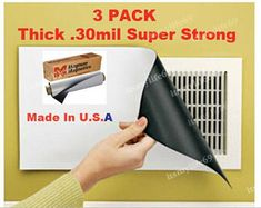 3 Pack Easier Living Clever Magnetic Vent Cover 8 X Can Be Cut to Smaller Sizes Redirect Air Flow As Seen on Tv Wall Vent Covers, Return Air Vent, Shabby Chic Crafts, Magnetic Wall, Car Magnets, See On Tv, White Vinyl, Simple Living, Wall Colors
