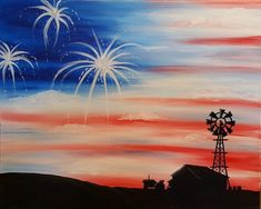Put on your blue jeans and we'll put on the Springsteen as we have fun painting this design together that is totally classic Americana art, just in time for the… American Flag Painting, American Flag Art, Cute Canvas Paintings, Diy Canvas Art, Farm Paintings, Acrylic Canvas, Diy Painting, Painting & Drawing, Journaling
