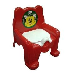 FUNNY Teddy Bear Kids Potty Training Seat Chair With Lid Toilet Children Girl