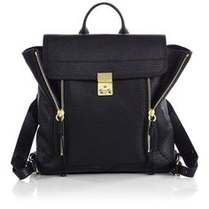 3.1 Phillip Lim Pashli Backpack (16,885 MXN) ❤ liked on Polyvore featuring bags, backpacks, apparel & accessories, expandable backpack, top handle bag, leather backpack bag, leather bags and leather rucksack