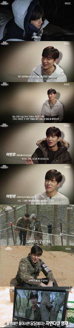 """""""Why am I here?"""" Lee Min-ho experiences the DMZ"""