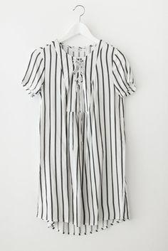 Woven Striped Dress