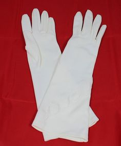 Vintage Women's Dress Gloves White Double by ilovevintagestuff