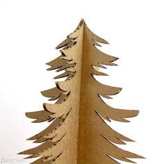 Recycled Cardboard Christmas Tree  Holiday Decor  by PeachwikDecor, $9.99