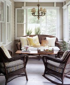 screened porch with glass, too. How about barn-door mounted windows for winder?