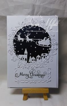 Mix's Meanderings: Christmas at Sweet Stampin' Challenge – Christmas Ideas Die Cut Christmas Cards, Simple Christmas Cards, Christmas Card Crafts, Homemade Christmas Cards, Printable Christmas Cards, Christmas Greeting Cards, Homemade Cards, Holiday Cards, Crafters Companion Christmas Cards