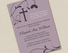 Custom Baptism or Communion Invitations by Freshly Cut Cards | Hatch.co