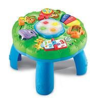 My princess loves this! #LeapFrog Animal Adventure Learning Table features More than 100 songs and activities keep babies and toddlers busy-- from sitting, to standing and cruising! Seven activity-packed stations and two learning modes offer little ones lots of ways to develop key motor, cognitive and social skills. Little learners tap the drum in the middle of the table to see it light up and learn about colors, shapes and cause and effect. The Animal Adventure Learning Table is appropriate…
