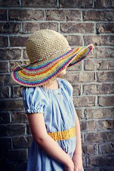 Skinny Stripes Straw Hat Crochet Pattern!!! I love this!!! Must make