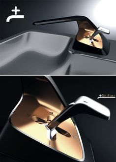 +Shifter Tap: The +Shifter faucet uses the system similar to the car's gearbox to change how much water we use