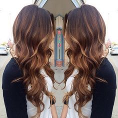 subtle, caramel ombre highlights