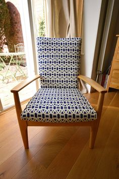 Parker Knoll Chair upholstered mid century modern by Kallistaa
