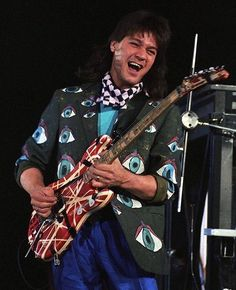 Eddie Van Halen by Art Meripol Eddie Van Halen, Alex Van Halen, Jazz Guitar, Cool Guitar, Guitar Room, Music Guitar, Wolfgang Van Halen, Van Halen 5150, Van Hagar