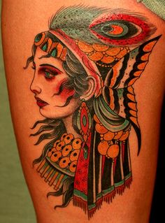 sailor jerry gypsy tattoo profile - Google Search