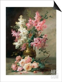 Roses and Lilies SwitchArt™ Print by Alfred Godchaux at Art.com