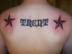 0Catchy Upper Back Tattoo