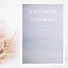 Boho Lilac Modern Wedding Invitation