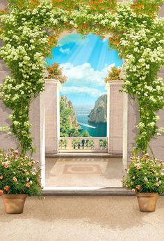 Road Painting, Wall Painting Decor, Beautiful Landscape Wallpaper, Beautiful Landscapes, Landscape Photos, Landscape Art, Wallpaper Designs For Walls, Acrylic Painting Inspiration, Wedding Stage Design