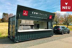 Container Coffee Shop, Container Shop, Container Design, Shipping Container Restaurant, Shipping Container House Plans, Snack Containers, Container Architecture, Small Bars, Coffee Shop Design