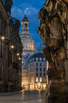 Evening in Dresden, Germany.