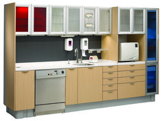 A-dec Inspire sterilization center. If space is limited, a straight sterilization configuration may be the answer.