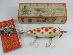 1930s Heddon 300 in the box with catalog.