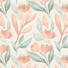 Shop the Anewall Orange Blossom Modern Classic Pastel Floral Wallpaper and other Industrial Wallpaper at Kathy Kuo Home Floral Wallpaper Phone, Iphone Background Wallpaper, Kids Wallpaper, Aesthetic Iphone Wallpaper, Disney Wallpaper, Aesthetic Wallpapers, Pastel Wallpaper, Ipad Background, Laptop Wallpaper