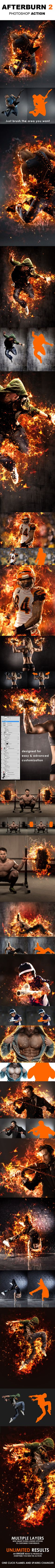 Buy AfterBurn 2 Photoshop Action by Artorius on GraphicRiver. Watch video tutorial AfterBurn 2 Part of the Afterburn series, AfterBurn 2 is a Photoshop action that will add sophis. Best Photoshop Actions, Cool Photoshop, Effects Photoshop, Photoshop Photos, Photoshop Brushes, Photoshop Design, Photoshop Tutorial, Photoshop Elements, Fotografia Tutorial